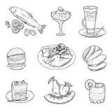 Foodstuffs. menu items. Royalty Free Stock Image