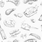 Foodstuffs. seamless background Royalty Free Stock Image
