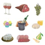 Foodstuffs. set of colored vector icons on a white Stock Photography