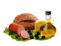 Foodstuffs. Tasty foods for a healthy diet Stock Photo