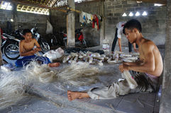 Foodstuffs. Workers were making foodstuffs in Klaten, Central Java, indonesia stock photos