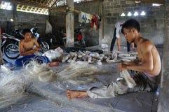 Foodstuffs. Workers were making foodstuffs in Klaten, Central Java, indonesia Stock Photos