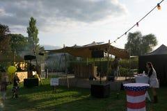 Foodtrack festival Wageningen September 2018-II arkivbilder