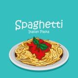Foodvector italiano degli spaghetti royalty illustrazione gratis