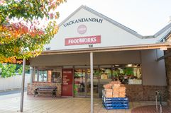 Foodworks supermarket in Yackandandah in the Shire of Indigo. Yackandandah, Australia - April 30, 2018: Foodworks supermarket in the small town of Yackandandah stock images