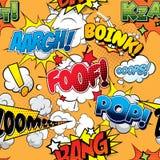 Foof Seamless comics background Stock Photos
