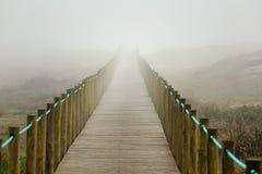 Foogy dune walkway Stock Photo