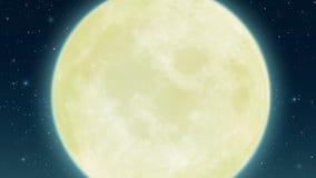 Fool moon starry night sky. Starry night sky with fool moon. Digital background raster illustration Stock Photo