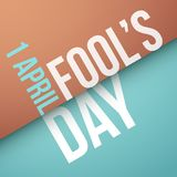 Fool`s Day, April 1st. Vector illustration stock illustration
