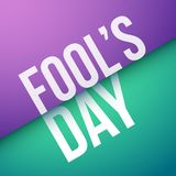 Fool`s day design. Vector illustration royalty free illustration