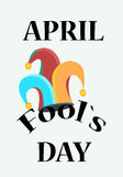 Fool`s day holliday, clown`s hat. April the first Stock Photography