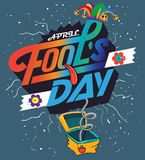 Fool`s day Vector illustration Stock Photography