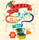 Fool`s day Vector illustration Stock Photos