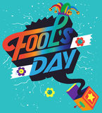 Fool`s day Vector illustration Royalty Free Stock Photos