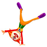 Fooling Around Clown Illustration. Illustration of a clown fooling around  on a white background Royalty Free Stock Photo