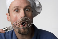 Fooling around with my wisk Stock Image