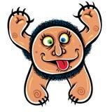 Foolish cartoon monster. Royalty Free Stock Image