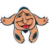Foolish cartoon monster, vector illustration.  royalty free illustration