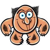 Foolish cartoon monster, vector illustration. Stock Image