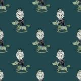 Foolish prince seamless pattern. Original design for print or digital media vector illustration
