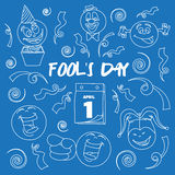 Fools day- 1 April. Vector illustration, EPS 10 Stock Photo