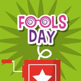 Fools day greeting card decoration. Vector illustration Royalty Free Stock Images