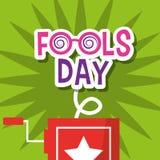 Fools day greeting card decoration. Vector illustration stock illustration