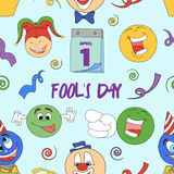 Fools day pattern- 1 April. Vector illustration, EPS 10 Royalty Free Stock Image