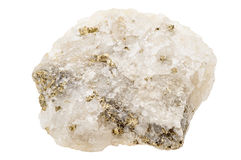 Fools gold, pyrite, in quartz Royalty Free Stock Photo