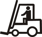 Foorklift truck Royalty Free Stock Images