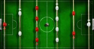Foosball的顶视图与足球的 库存照片