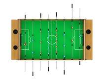 Foosball足球被隔绝的台式游戏机 免版税库存照片