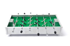Foosball. Table on white background royalty free stock photography