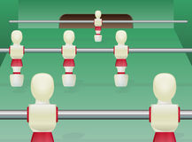 Foosball/bordlägger fotboll Stock Illustrationer