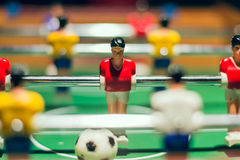 Foosball in close up Stock Photo