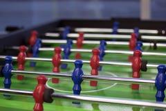 foosball is een tafelbladspel dat los gebaseerd op voetbal is royalty-vrije stock foto