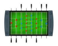 Foosball fotboll bordlägger leken Arkivbilder