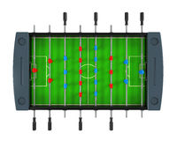Foosball Fußball-Gesellschaftsspiel Stockbilder