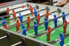 Foosball game Stock Images