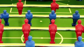Foosball. Game in action, close up stock video footage