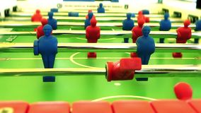 Foosball. Game in action, close up stock video