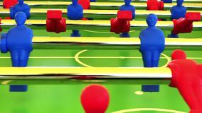 Foosball. Game in action, close up stock footage