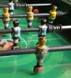 Foosball-Geldstrafenmann lizenzfreies stockbild