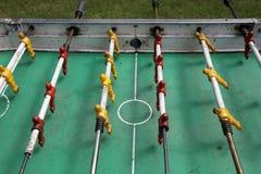 Foosball i wymierza gol grę zdjęcie stock