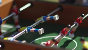 Foosball. Invisible playing table football. Unknown playing foosball. Table soccer. Foosball. Invisible playing table football. Unknown playing foosball. The stock video footage