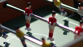 Foosball. Invisible playing table football. Unknown playing foosball. Table soccer. Foosball. Invisible playing table football. Unknown playing foosball. The stock video