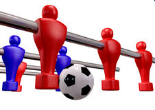 Foosball Kickoff Front Isolated Royalty Free Stock Image