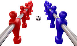 Foosball Kickoff Top Isolated Stock Image