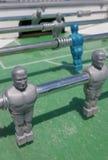 Foosball match stock image