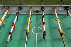 Foosball and mete gol game stock photo